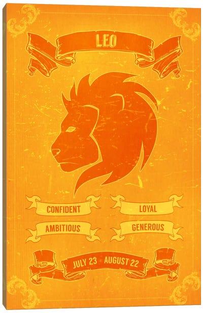 Leo Horoscope Canvas Print #ICA175