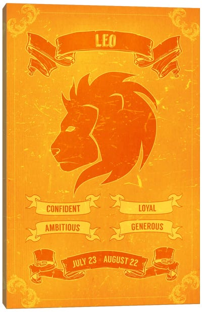 Leo Horoscope Canvas Art Print