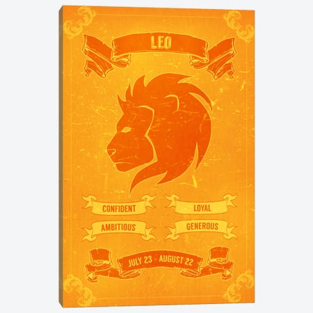 Leo Horoscope Canvas Print #ICA175} by Unknown Artist Canvas Print