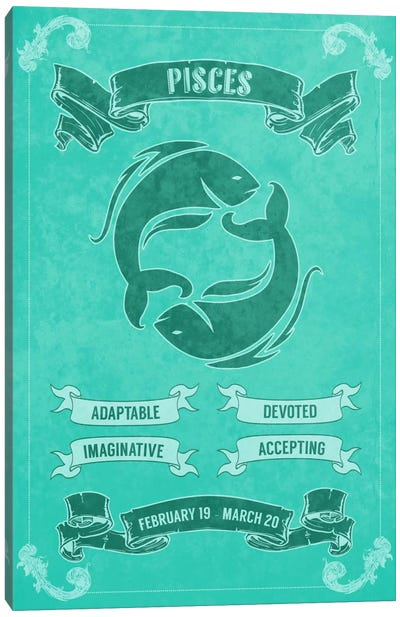 Pisces Horoscope Canvas Print #ICA176