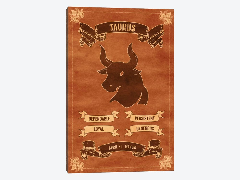 Taurus Horoscope by iCanvas 1-piece Canvas Print