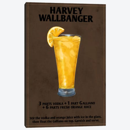 How To Harvey Wallbanger Canvas Print #ICA178} by Unknown Artist Canvas Artwork