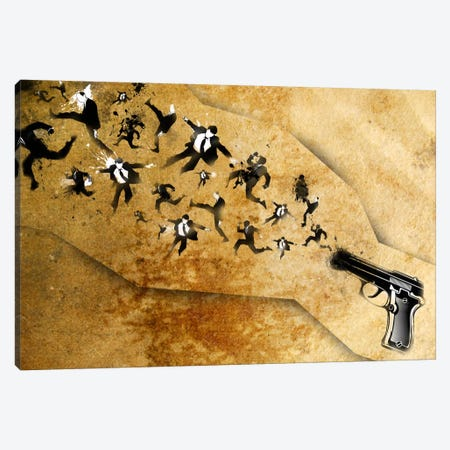 End of the Gun Canvas Print #ICA17} by Unknown Artist Canvas Print