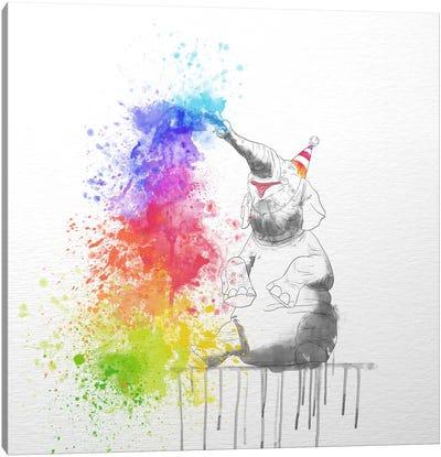 Happy Elephant Canvas Art Print