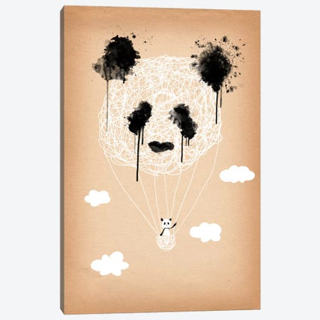 Panda Hot Air Balloon Canvas Print #ICA182} by Unknown Artist Art Print