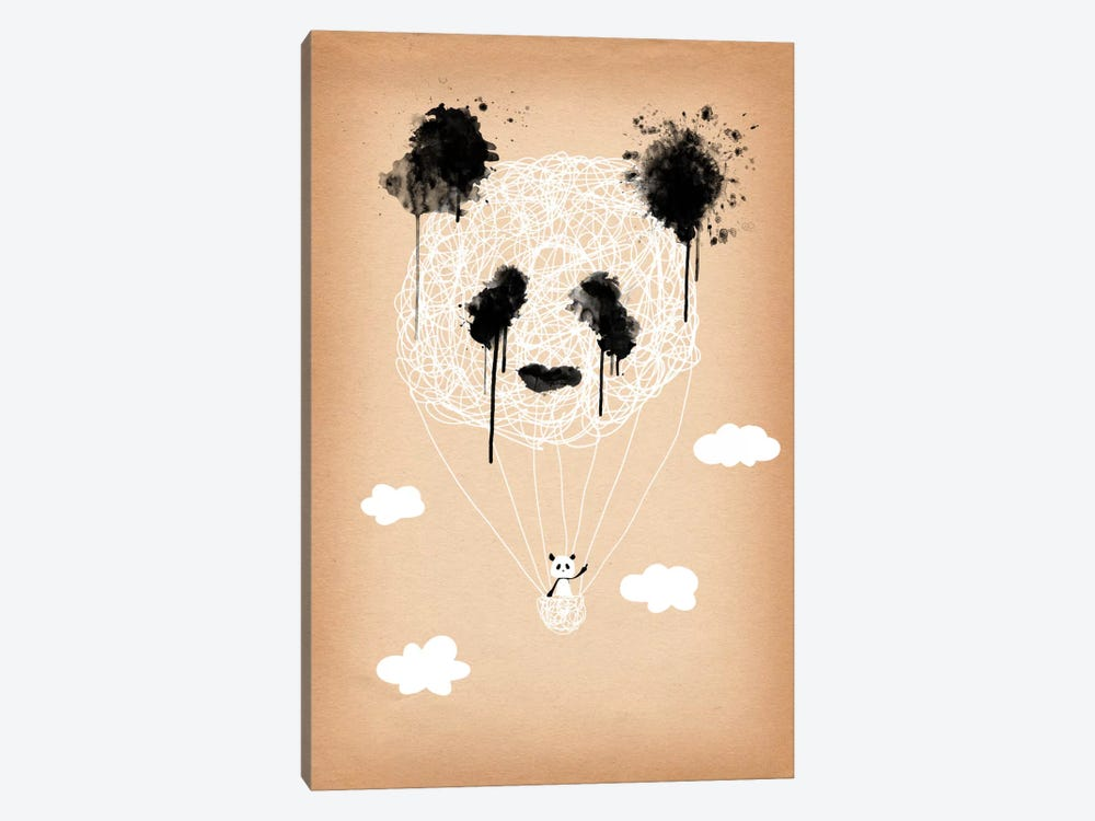 Panda Hot Air Balloon by iCanvas 1-piece Canvas Print