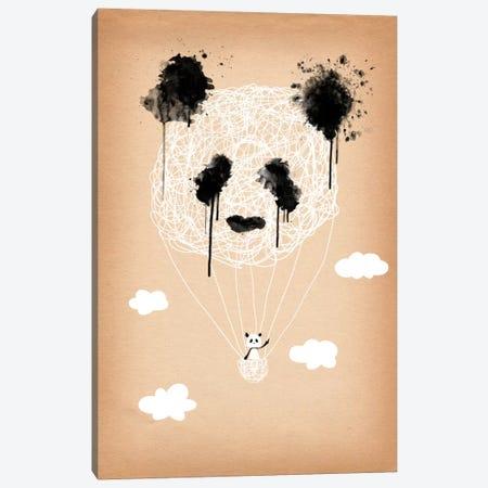 Panda Hot Air Balloon Canvas Print #ICA182} by Unknown Artist Art Print