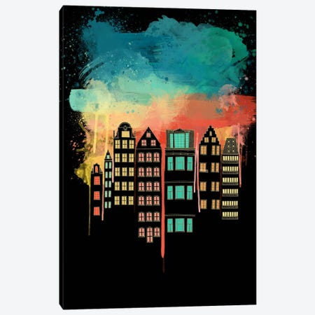 City at Night Canvas Print #ICA184} by Unknown Artist Canvas Art