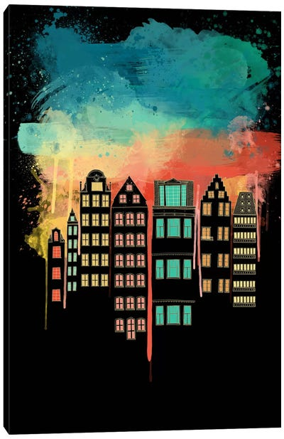 City at Night Canvas Art Print