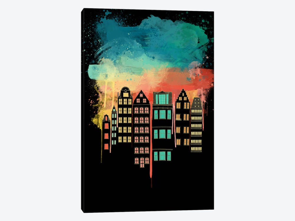 City at Night by Unknown Artist 1-piece Canvas Print