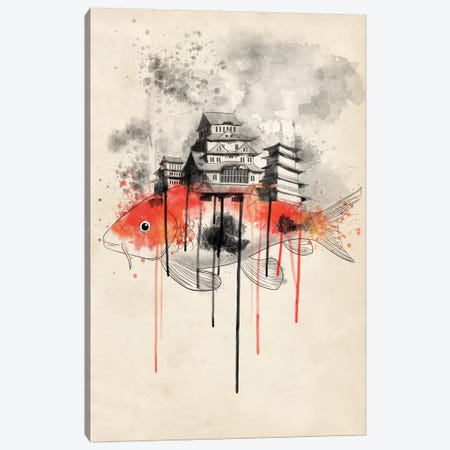 Koi Land Canvas Print #ICA186} by Unknown Artist Canvas Artwork