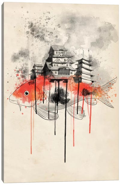 Koi Land Canvas Art Print