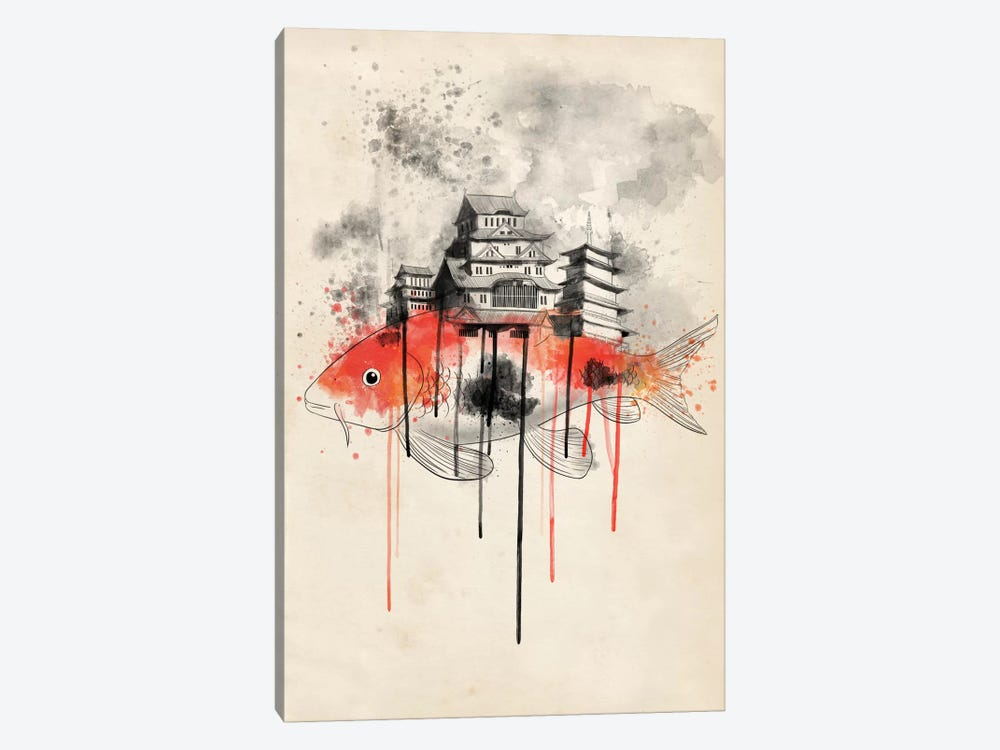 Koi Land by iCanvas 1-piece Canvas Art Print