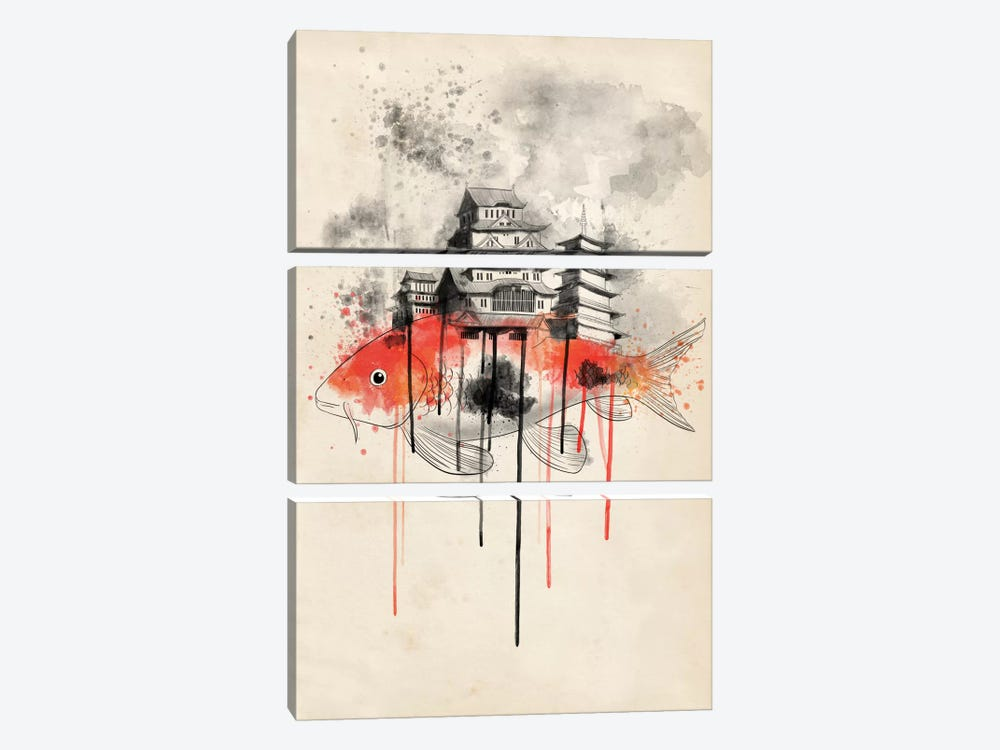 Koi Land by iCanvas 3-piece Art Print