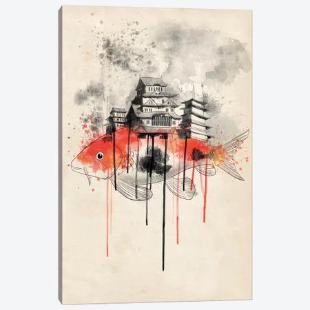 Koi Land Canvas Print #ICA186} by Unknown Artist Canvas Artwork