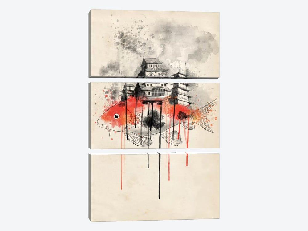 Koi Land by Unknown Artist 3-piece Art Print