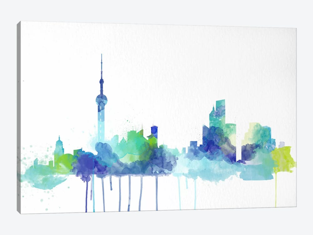 Toronto Watercolor Skyline by iCanvas 1-piece Canvas Artwork