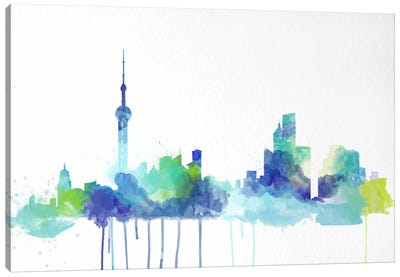 Toronto Watercolor Skyline Canvas Art Print