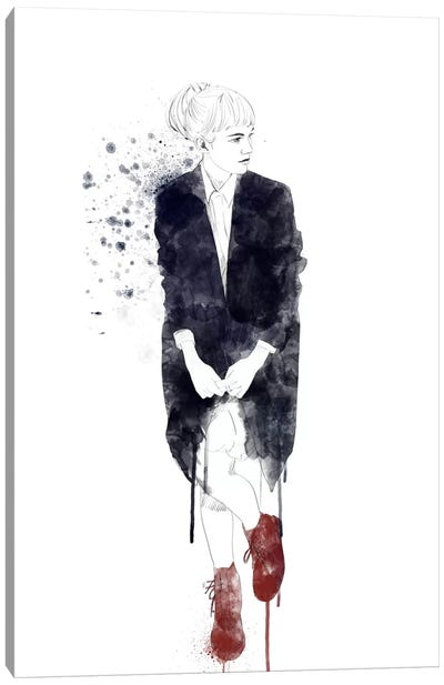 In My Red Shoes Canvas Art Print