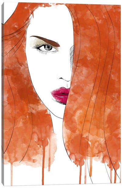 Seductive Red Canvas Art Print
