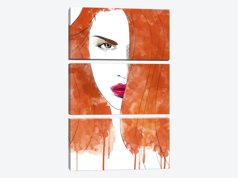 Seductive Red by iCanvas 3-piece Art Print