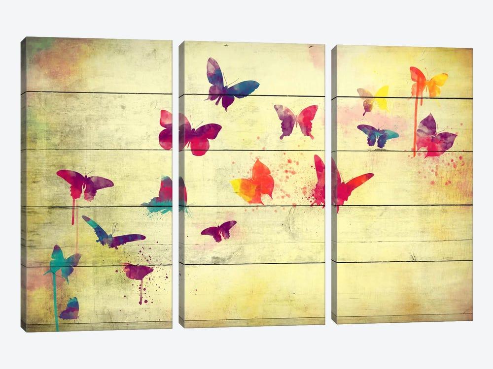 Flutter Away by Unknown Artist 3-piece Canvas Art