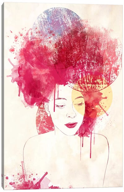 In Thought Canvas Art Print