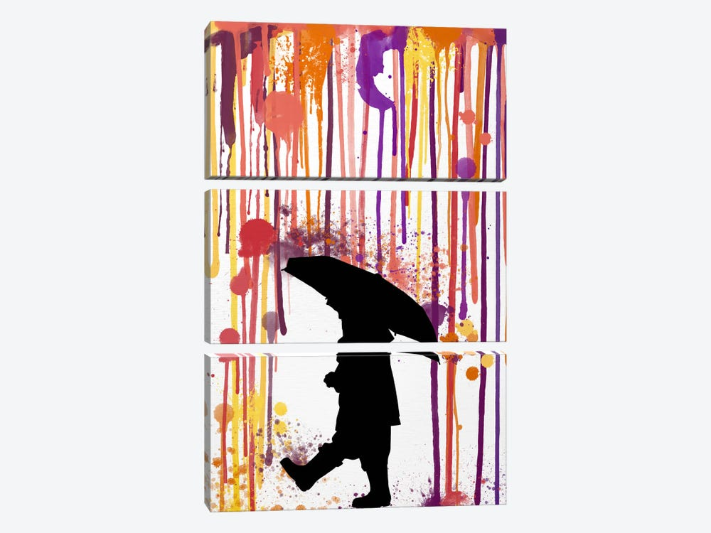 Don't Rain on Me by iCanvas 3-piece Canvas Artwork