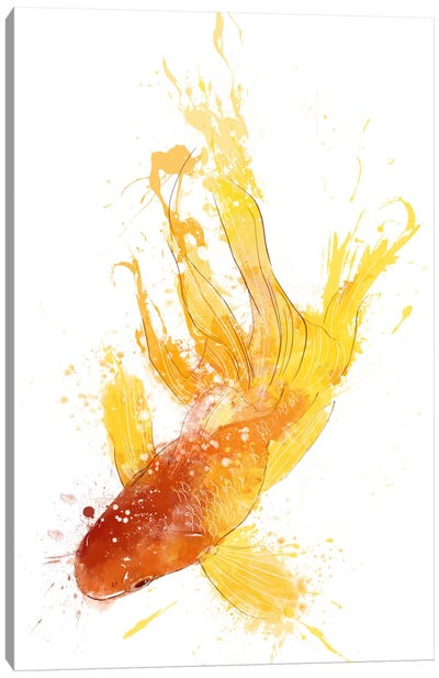 Gold Koi Canvas Print #ICA199