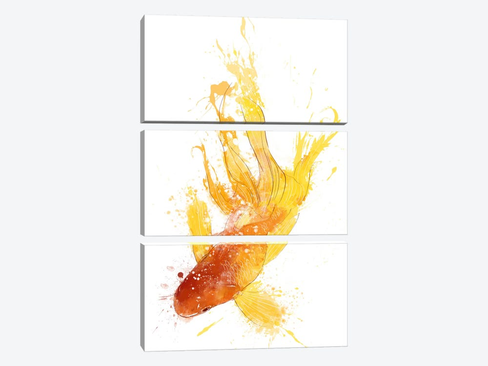 Gold Koi 3-piece Canvas Print