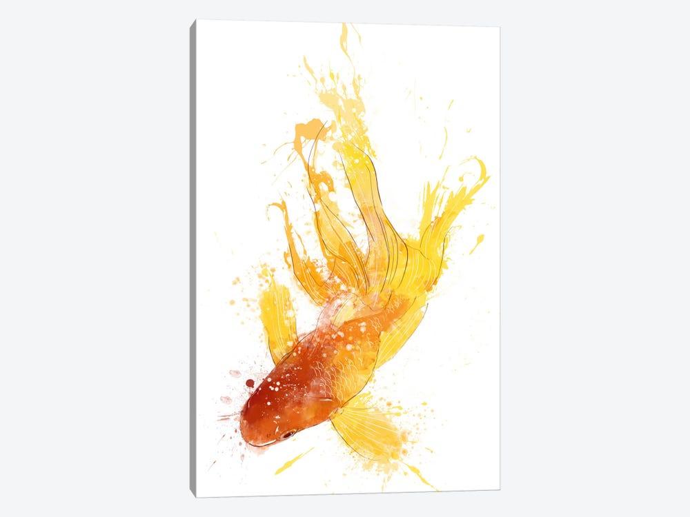 Gold Koi by Unknown Artist 1-piece Canvas Art Print