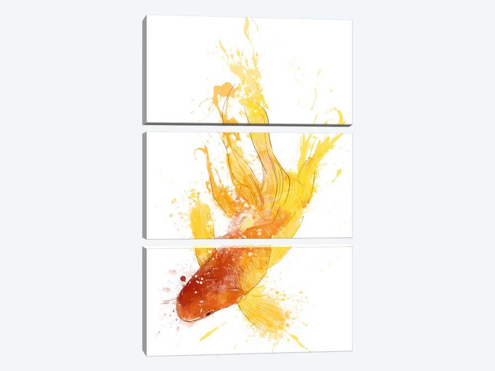 Gold Koi by Unknown Artist 3-piece Canvas Print