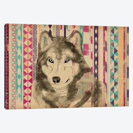 Tribal Wolf Canvas Print #ICA200} by Unknown Artist Canvas Art
