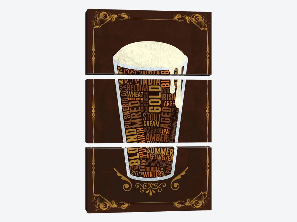 Your Beer, Your Way by iCanvas 3-piece Canvas Art Print