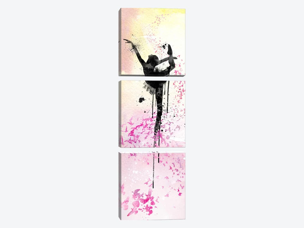 Floating Ballet Dance by iCanvas 3-piece Canvas Art Print