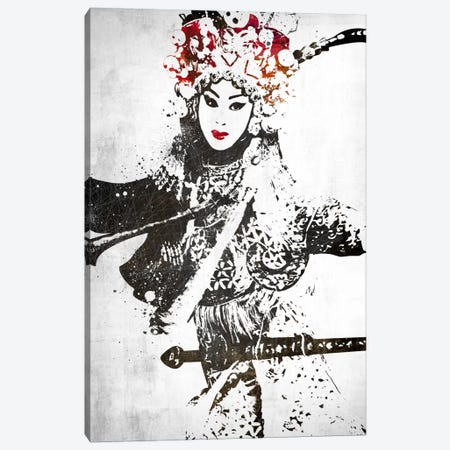 Traditional Warrior Canvas Print #ICA209} by Unknown Artist Canvas Wall Art