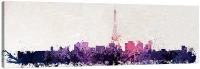 Paris Watercolor Canvas Print #ICA211