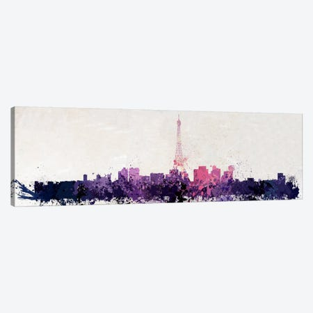Paris Watercolor Canvas Print #ICA211} by Unknown Artist Canvas Print