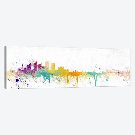 Pittsburgh Watercolor Skyline Canvas Print #ICA212} by Unknown Artist Art Print