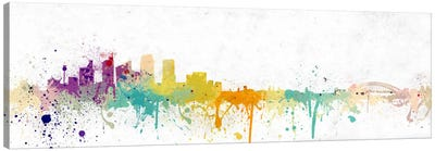 Pittsburgh Watercolor Skyline Canvas Art Print