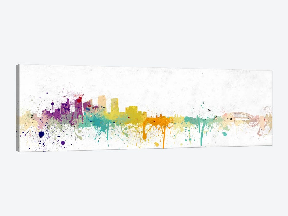 Pittsburgh Watercolor Skyline by Unknown Artist 1-piece Canvas Artwork