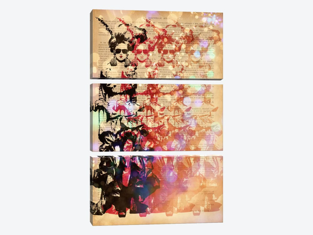 Victorian Fashionista by 5by5collective 3-piece Canvas Print