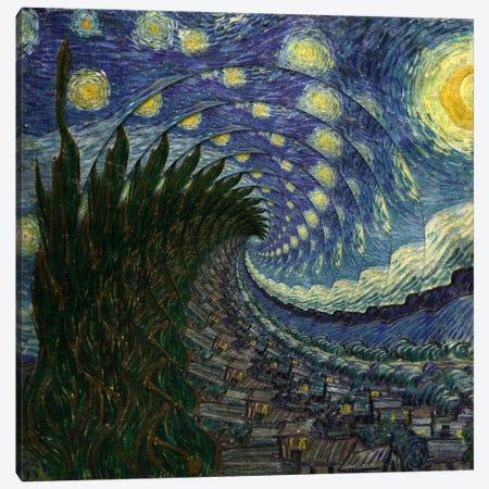 Swirl Night Canvas Print #ICA218} by Unknown Artist Canvas Art Print