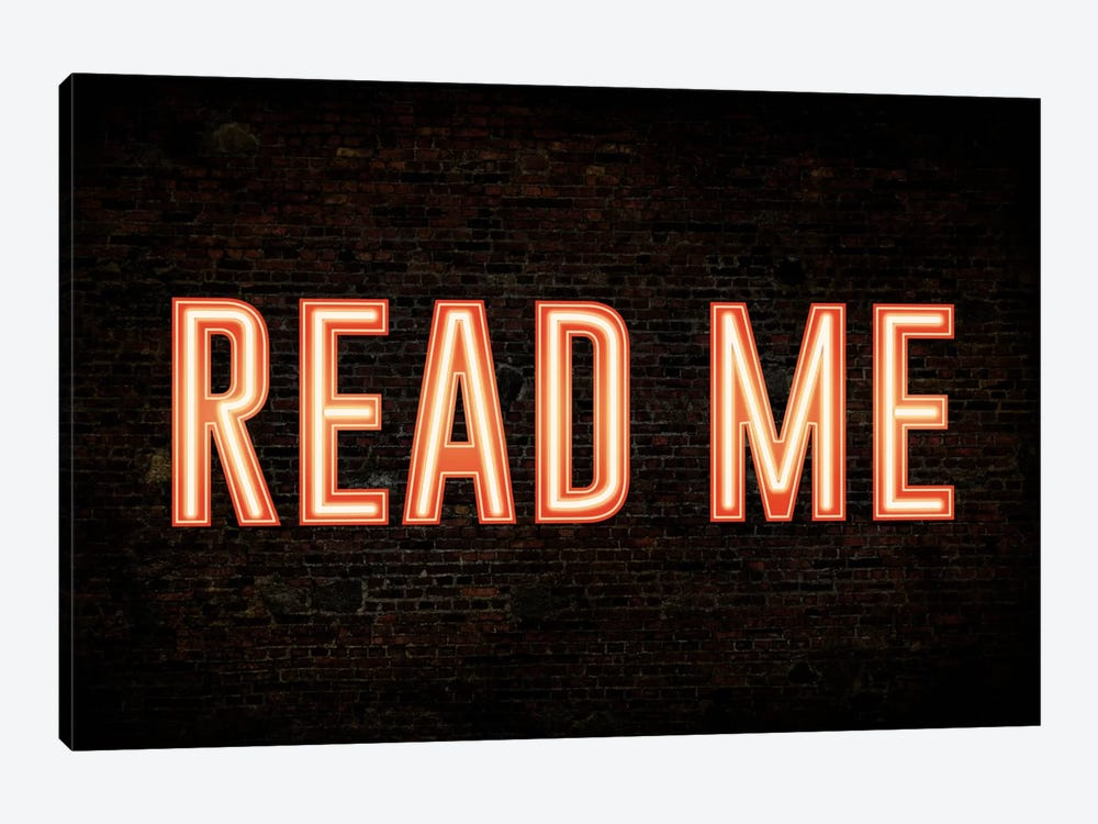 Read Me by iCanvas 1-piece Art Print