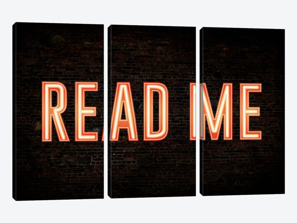 Read Me by iCanvas 3-piece Canvas Print