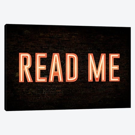 Read Me Canvas Print #ICA219} by Unknown Artist Art Print