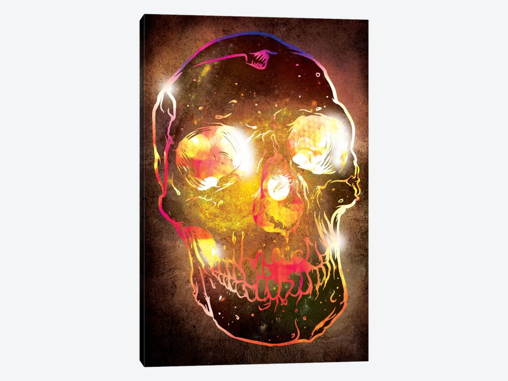 Neon Skull 1-piece Canvas Print