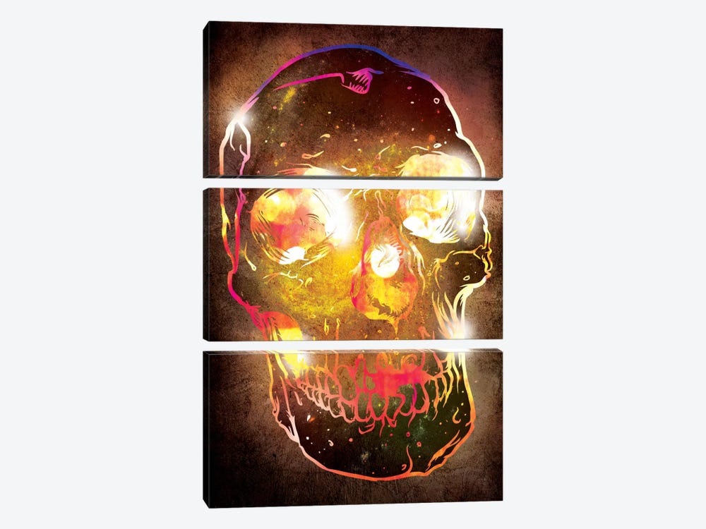 Neon Skull by iCanvas 3-piece Art Print