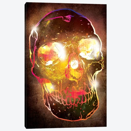 Neon Skull Canvas Print #ICA21} by Unknown Artist Canvas Print
