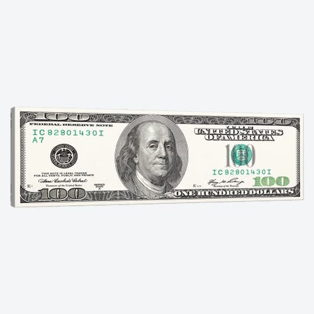 One Hundred Dollar Bill Canvas Print #ICA2212} by 5by5collective Canvas Artwork